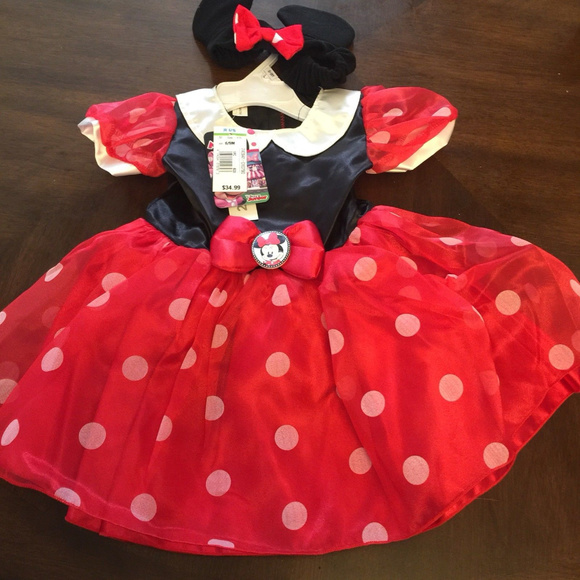 Disney Other - Disney Minnie Mouse 6-9Mos Dress w Headband